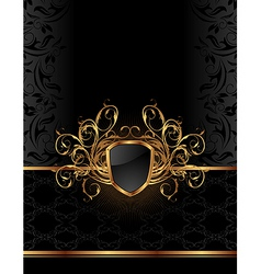 Golden ornate vector