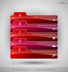 Modern business tabs for infographics vector image