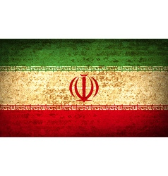 Flags iran with dirty paper texture vector