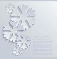 Modern snowflakes light background vector