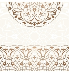 Arabic vintage invitation card vector