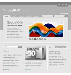 Gray website template vector