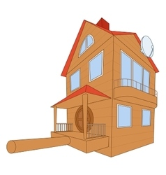 Bird house deluxe vector