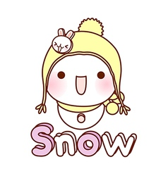 A view of snow man vector image vector image