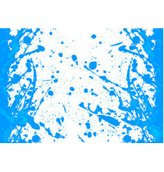 abstract splatter blue color background vector image