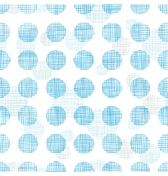 Abstract textile blue polka dots stripes seamless vector image vector image