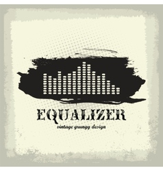 antique vintage a art of waveform equalizer vector image