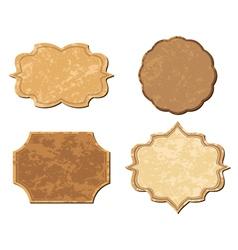 beige vintage frames - set vector image vector image