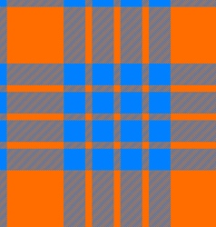 Clan cameron tartan seamless background orange and vector