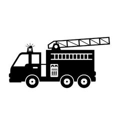 fire truck equipement service emergency vector image