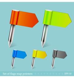 Flag pins vector