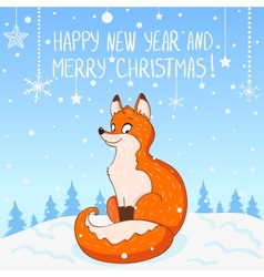 Fox New Year vector image vector image