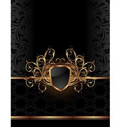Golden ornate vector