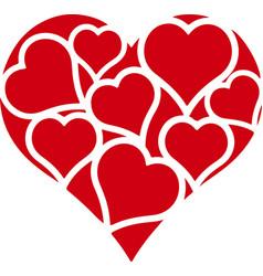 Hearts in heart vector