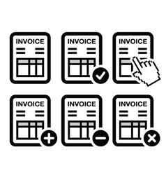 Invoice finance icons set vector