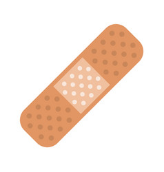 Medical plaster bandage adhesive vector
