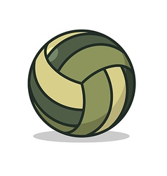 Military sport ball Army Sports accessory for vector image vector image