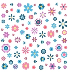 pattern with colorful flowers vector image vector image