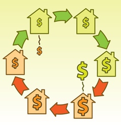 Real estate bubble cycle vector image
