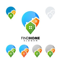 real estate logo home house logo find home logo vector image vector image
