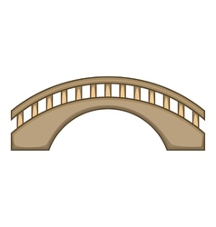 Round bridge icon cartoon style vector image vector image
