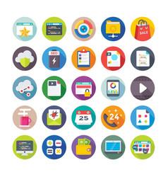 seo and digital marketing icons 5 vector image vector image
