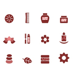 spa and wellness icons vector image
