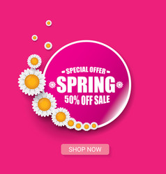 Spring sale design template banner or tag vector