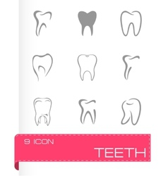 teeth icon set vector image vector image