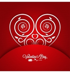 Valentines day vintage card ornament background vector