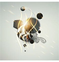 futuristic art background vector image
