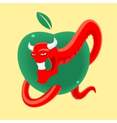 Forbidden fruit vector