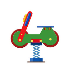 Amusement park facilities theme elements vector