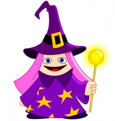 little magician vector image