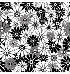 whiteblack repeating floral pattern vector image