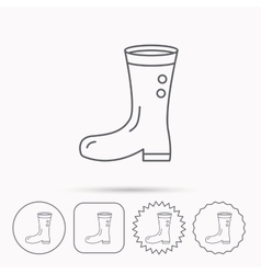 Boots icon garden rubber shoes sign vector