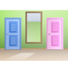 The mirror and door vector