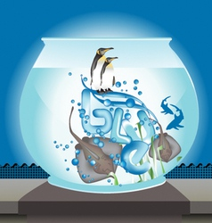 fishbowl vector image