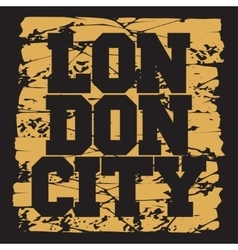 T-shirt london design fashion vector