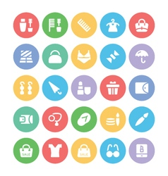 Fashion colored icons 11 vector