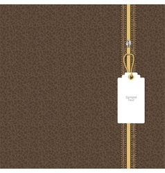 Brown leather texture with yellow and white vector image