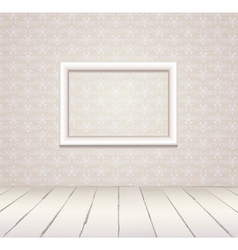 White vintage interior with frame vector image