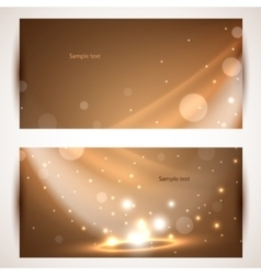 Shiny banners use for presentation vector