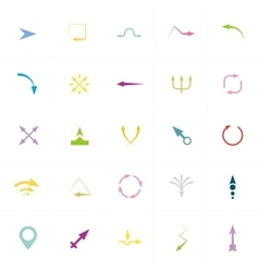Arrows Signs and Icons vector image vector image