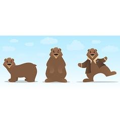 Bear Character Set vector image