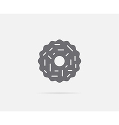 Cookie with almond ring element or icon ready for vector