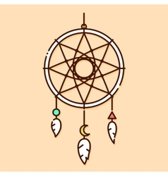 Dream catcher in graphic vector