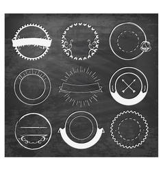 Editable Vintage Badges and Labels on Chalkboard vector image vector image
