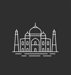 famous indian landmark vector image