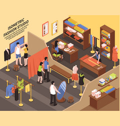 Fashion studio isometric vector
